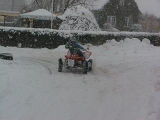 Motocross im Schnee